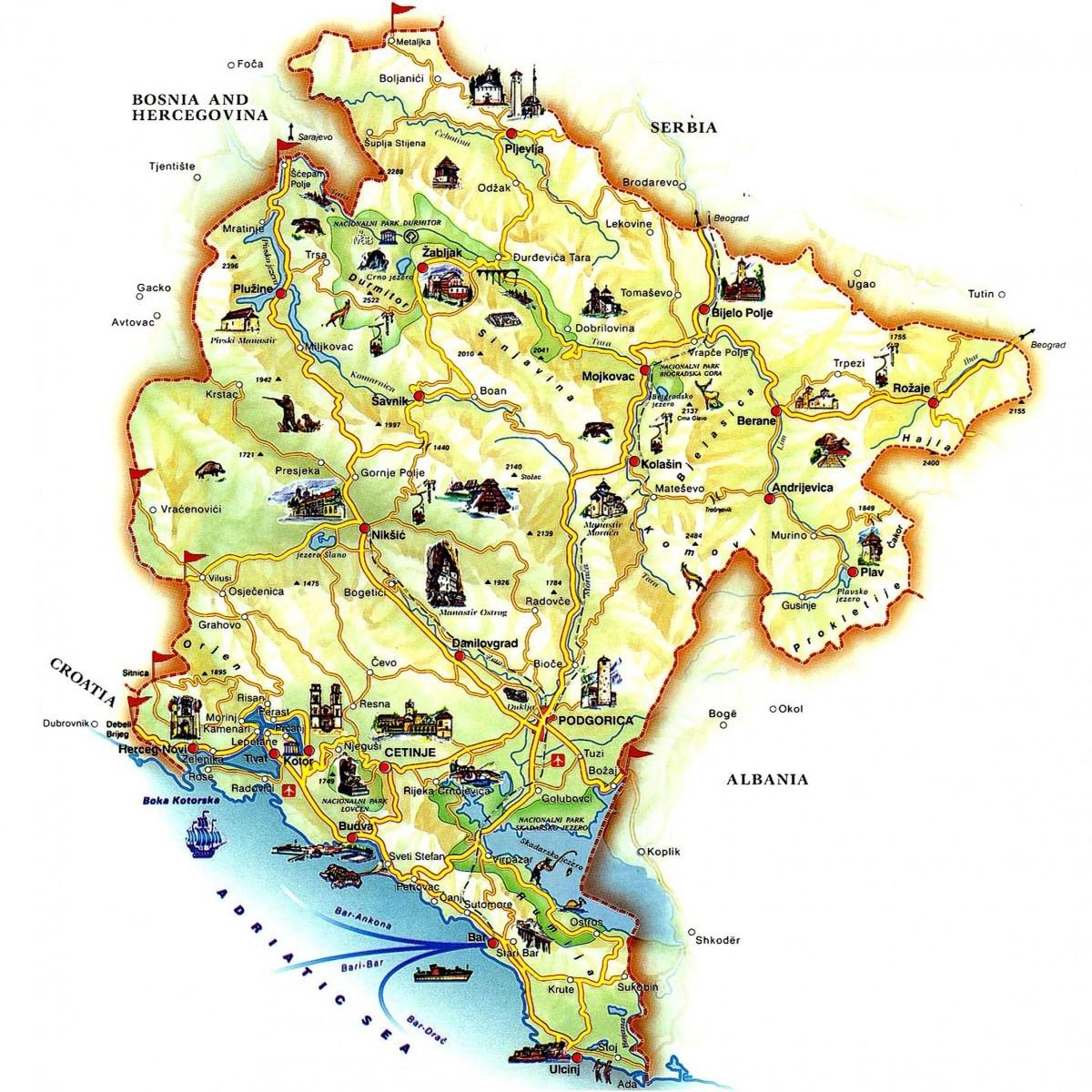 Navijacka Mapa Crne Gore Balkanski Navijaci