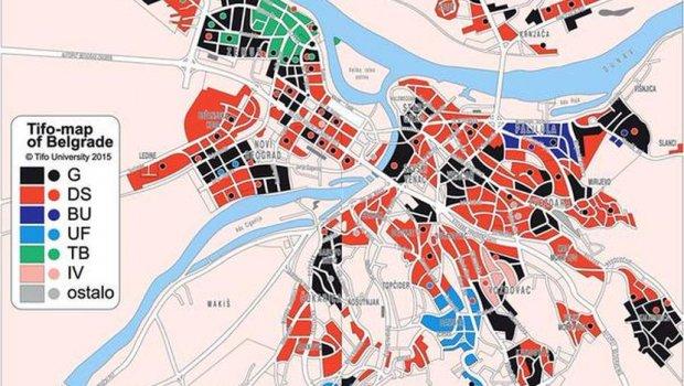Navijacka Mapa Beograda Balkanski Navijaci